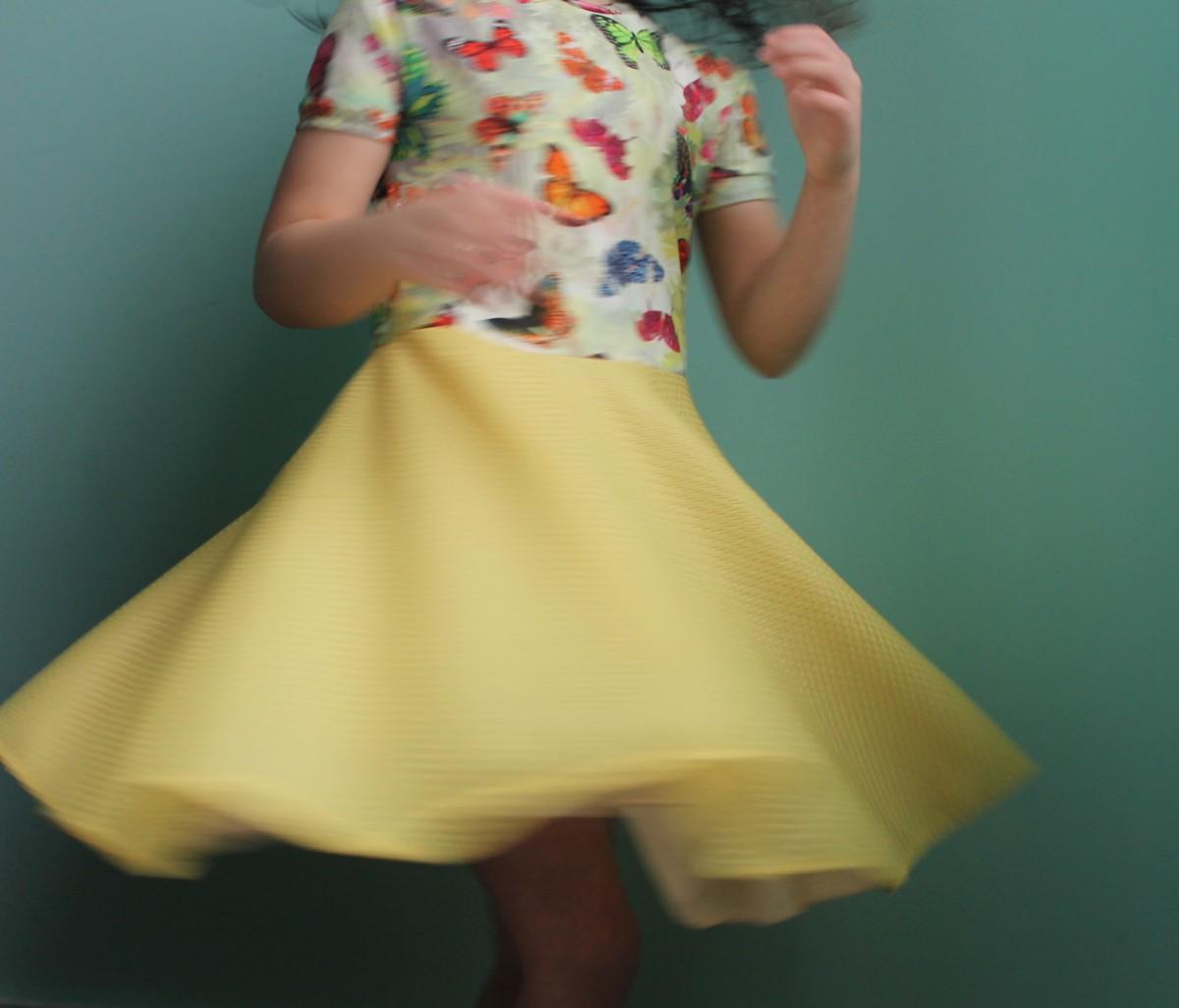Lentekriebel jurkje
